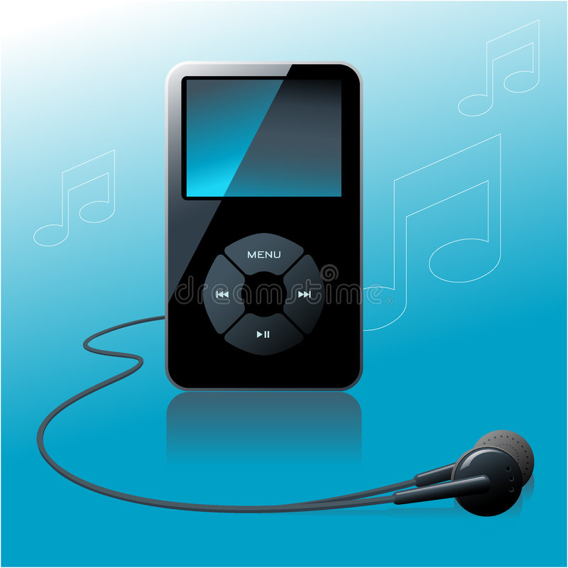 MP3-speler vector illustratie