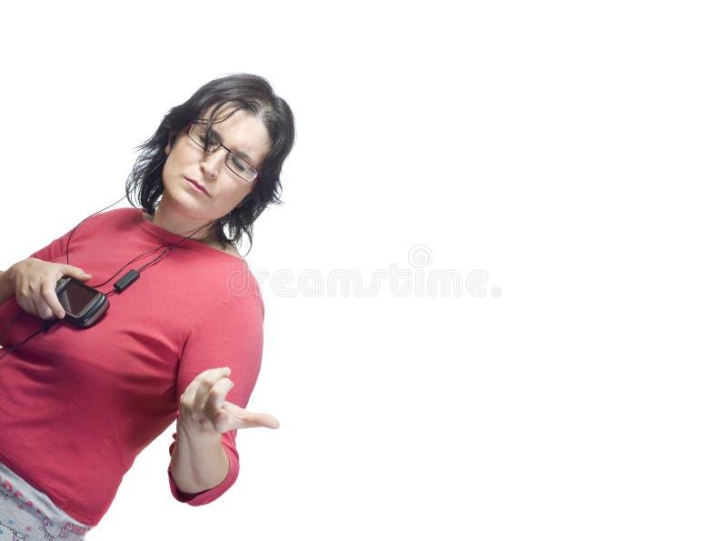 mp3 technologii muzyczna kobieta zdjęcie royalty free