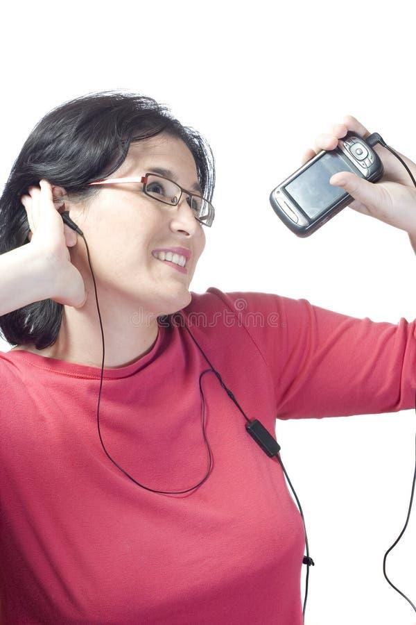 mp3 technologii muzyczna kobieta obraz royalty free