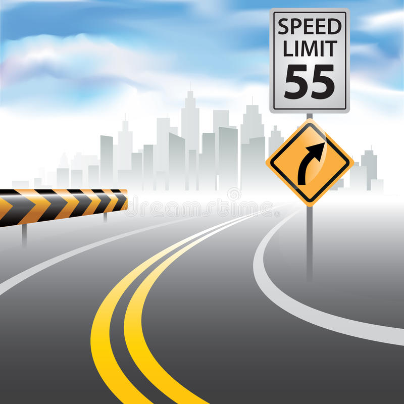 60 mph stock de ilustración