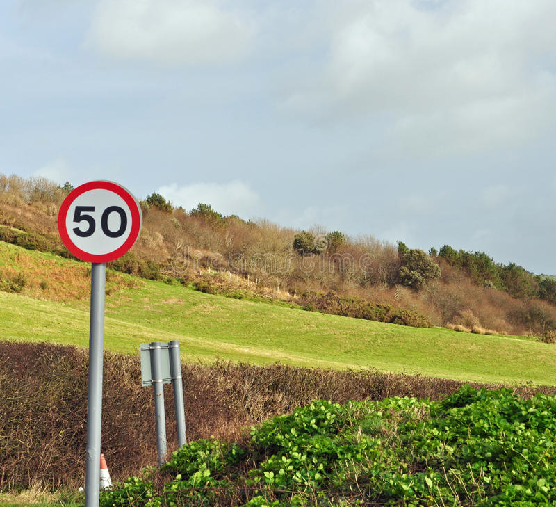 Download 50 mph sign in countryside stock photo. Image of indicator - 37459858