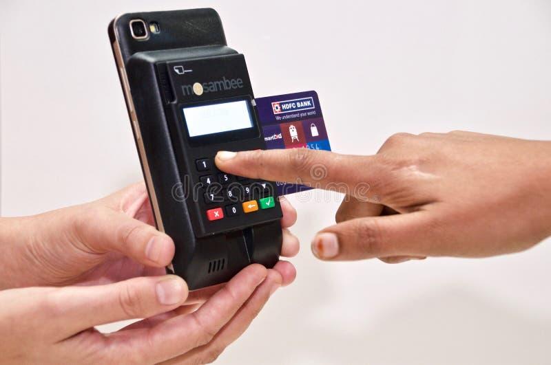 MPOS - Transação móvel dos pagamentos imagem de stock royalty free