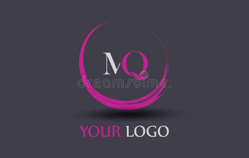 MQ M Q Letter Logo Design libre illustration