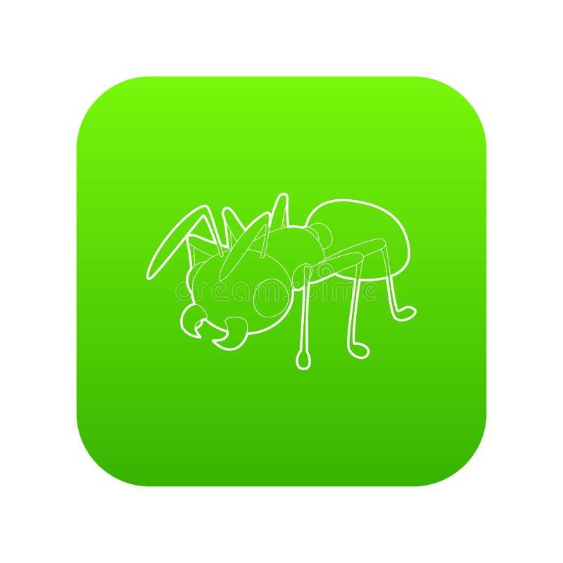 Mrówki ikony zieleni wektor ilustracji