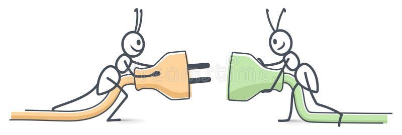 Mrówki łączą ilustracji