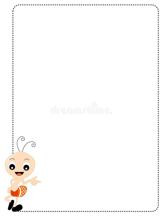 mrówki granica ilustracji