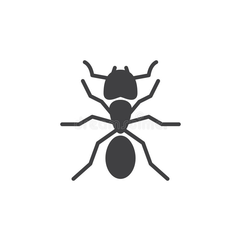 Mrówki ikony wektor, wypełniający mieszkanie znak ilustracja wektor