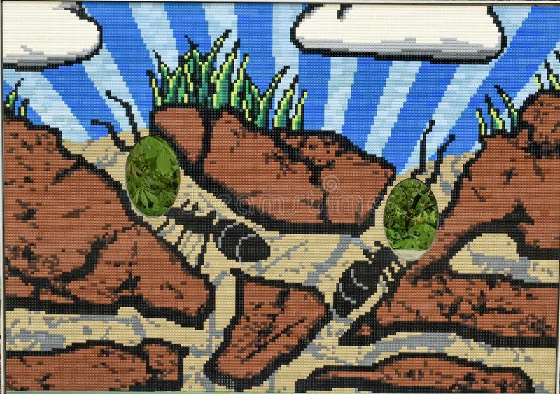 Mrówki wzgórza mozaika zdjęcie royalty free
