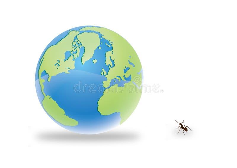 mrówki ziemia royalty ilustracja