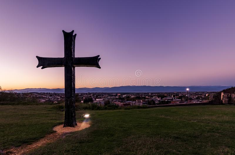 Cross on a Hilltop royalty free stock images