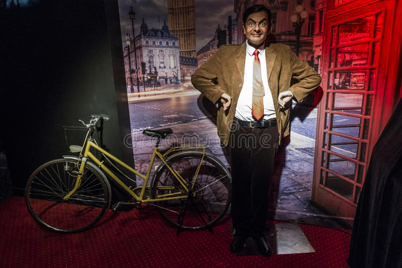 Mr. Bean wax figure stock photos