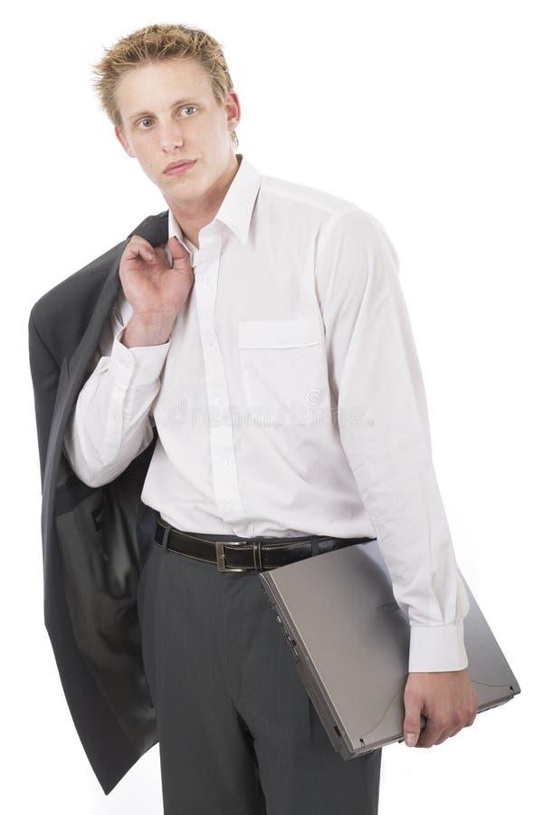 Mr cool laptop 1 royalty free stock image
