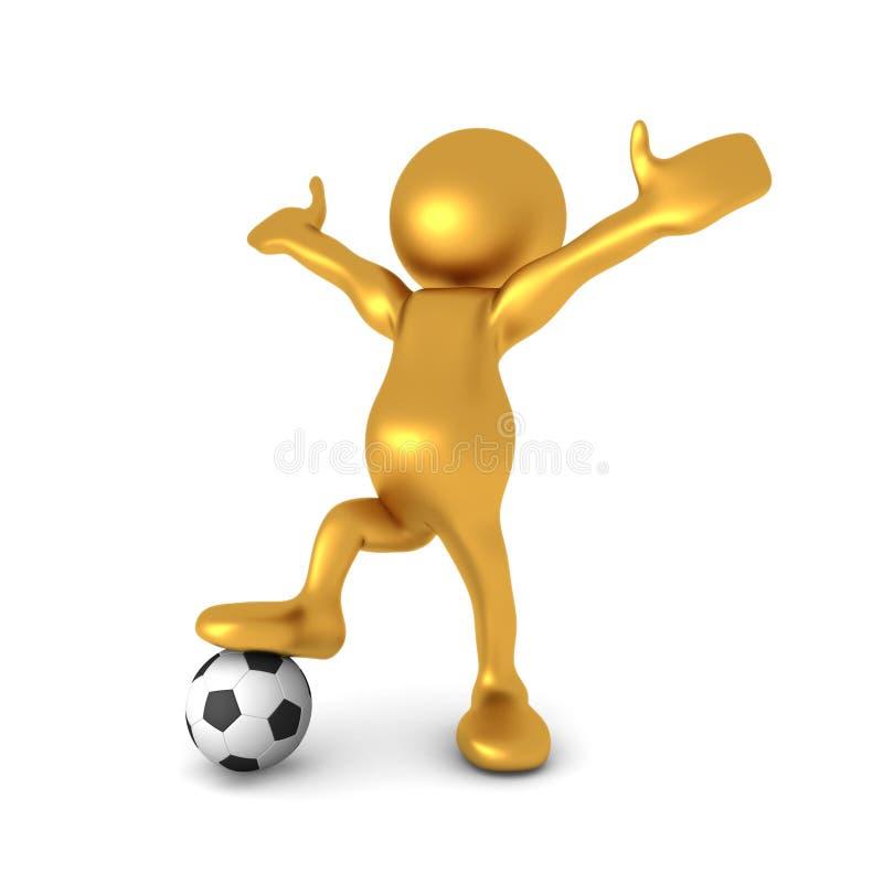 Download Mr Goldman's Soccer Glory stock illustration. Image of golden - 20867589