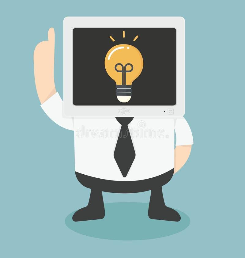 Mr Komputer dostaje pomysł ilustracji