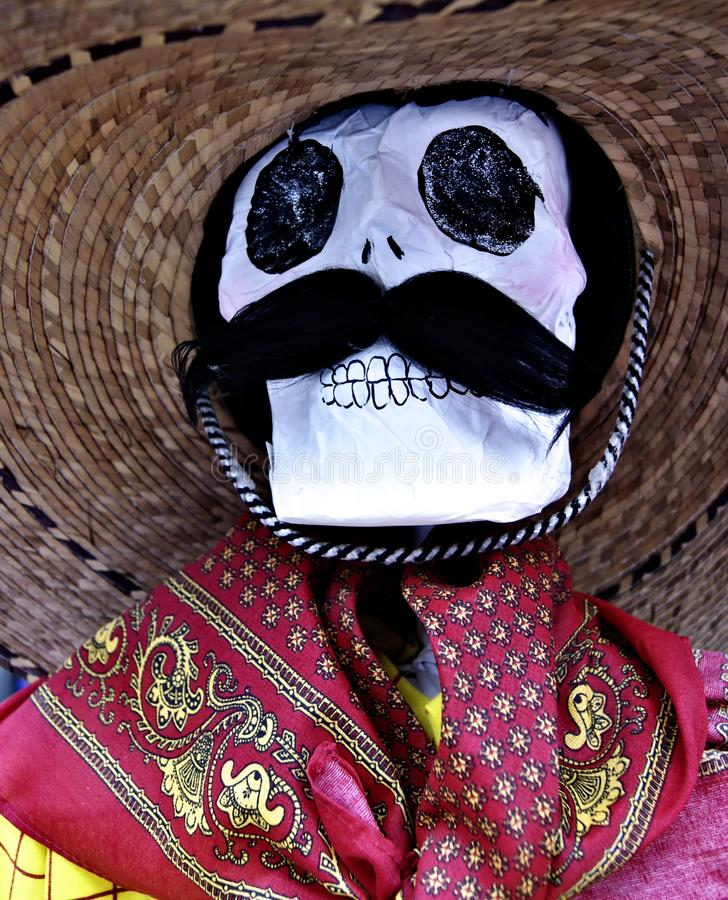 Mr. Male macho men Mexican Skull royalty free stock images