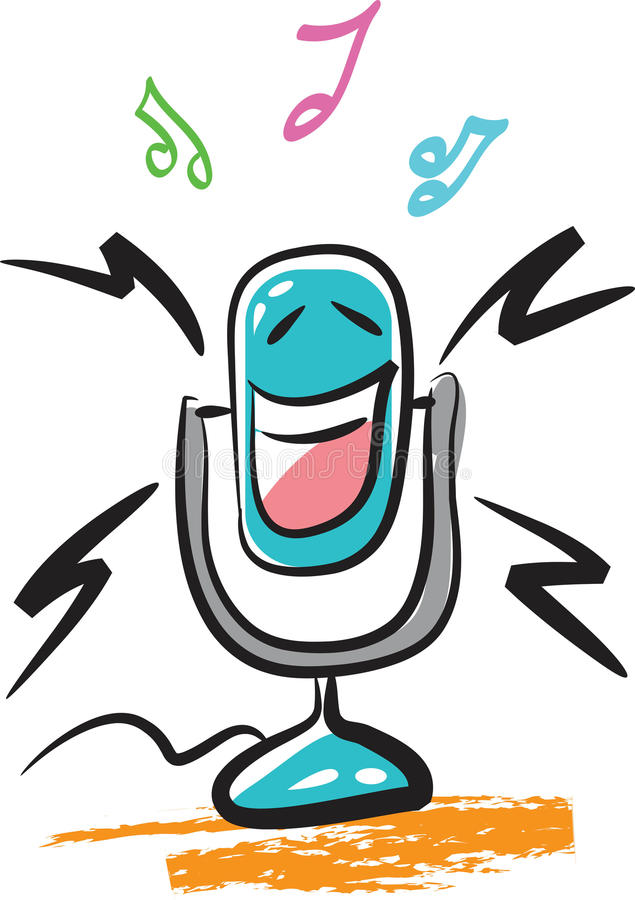 Download Mr. mic stock vector. Image of instrument, character - 13463038