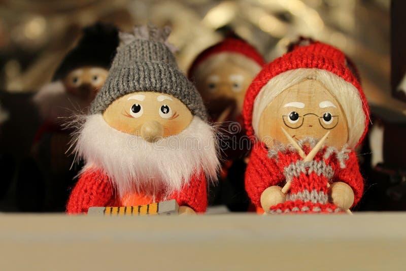 Mr and Mrs Santa Claus royalty free stock photos