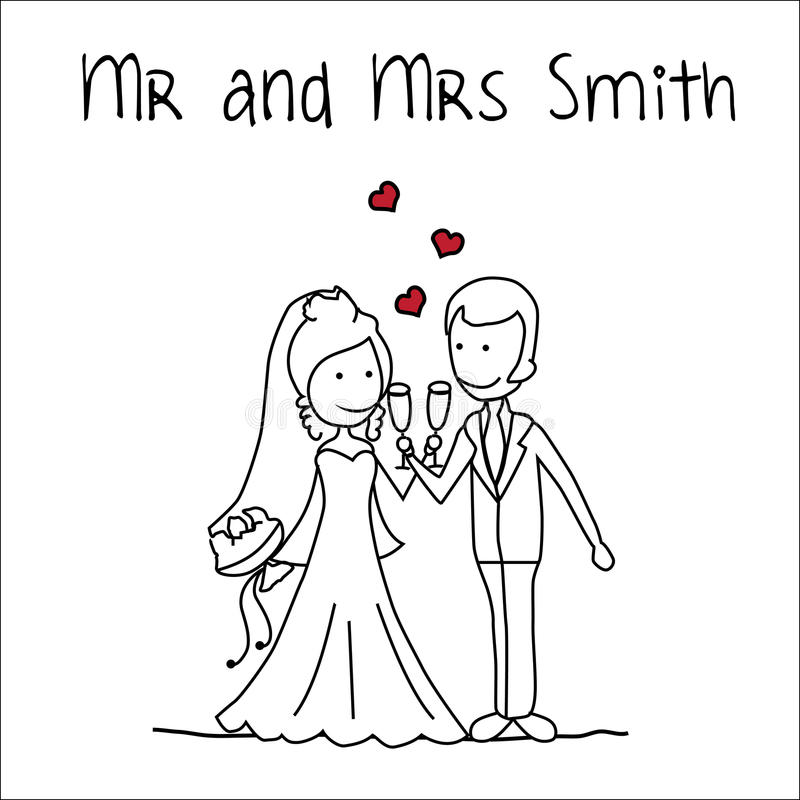 Mr and Mrs Smith stock vector. Illustration of antique - 66647056