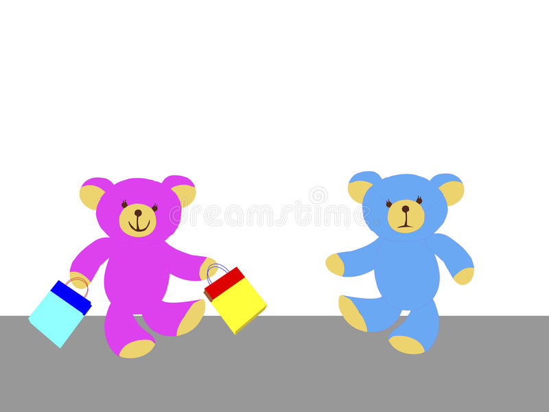 Download Mr and mrs teddy bear stock vector. Illustration of teddy - 8134262