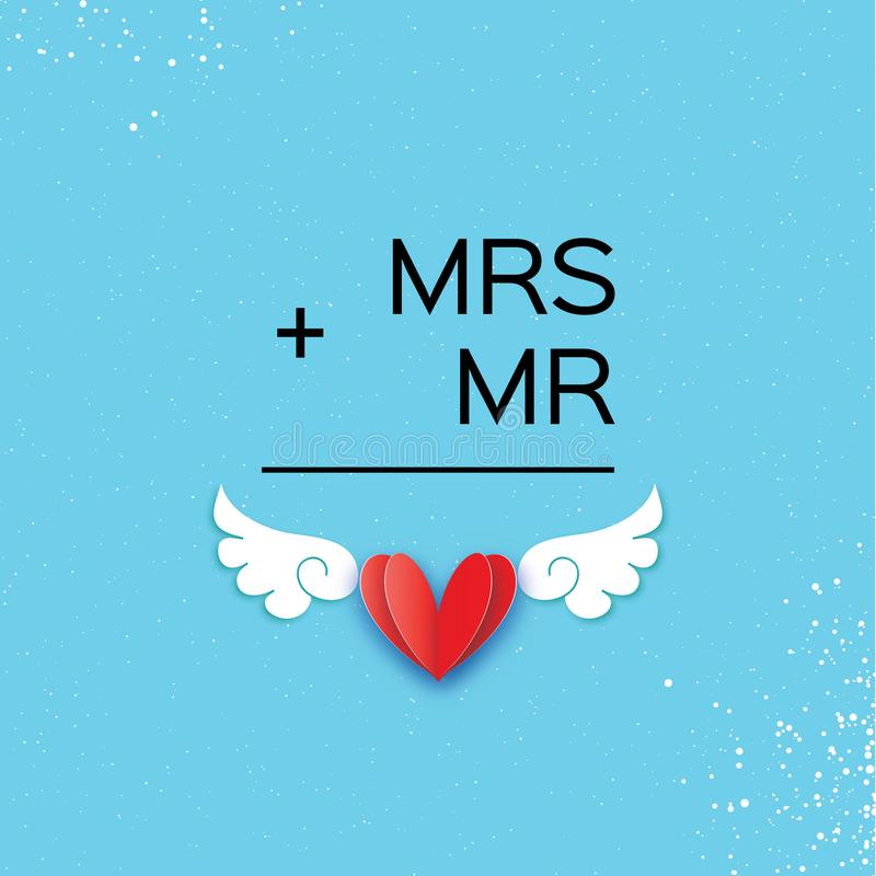 Download Mr And Mrs Words Mister Plus Missis Equal Love On Sky Blue Paper