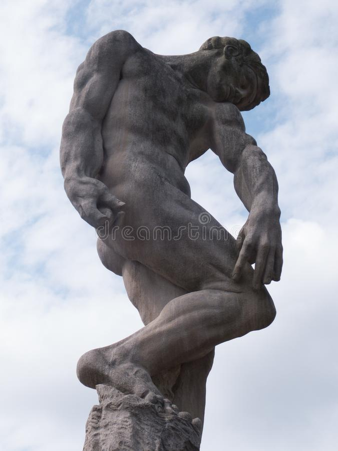 Download Mr. Muscles stock image. Image of muscular, clouds, statue - 118100921