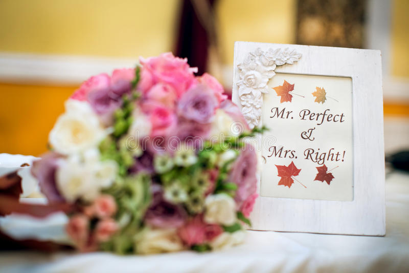 Mr. Perfect & Mrs. Right! stock image