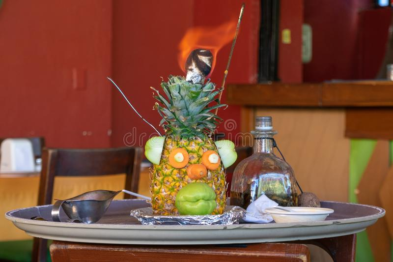 Mr. Pineapple head stock photos