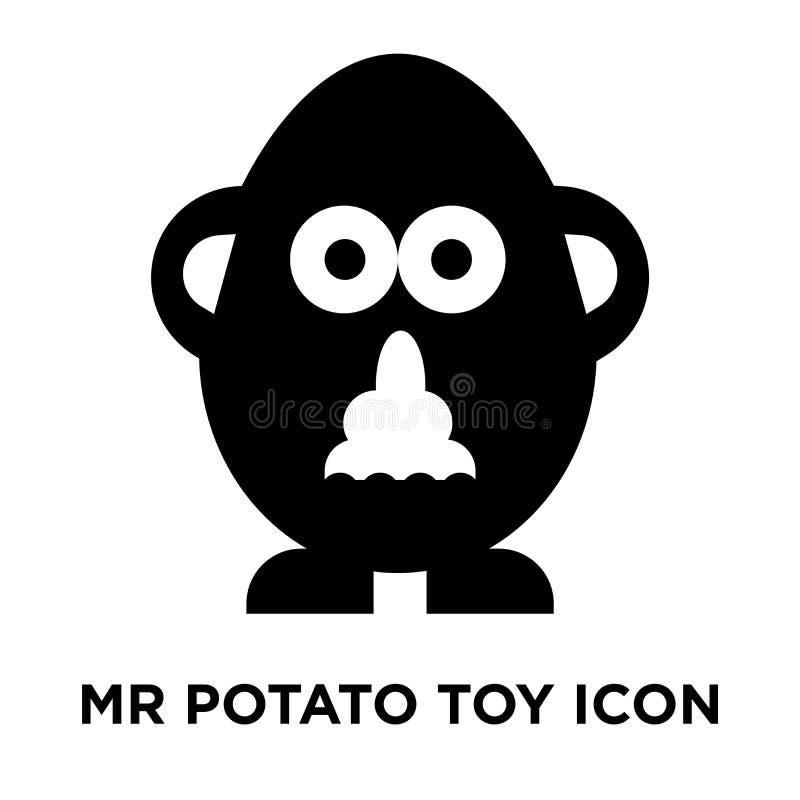 Mr potato toy icon vector isolated on white background, logo con royalty free illustration