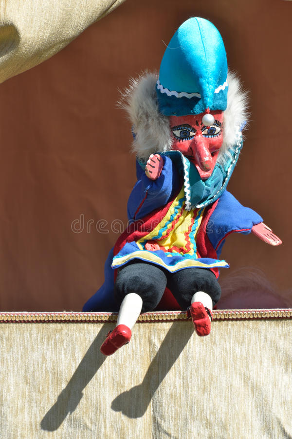 Mr punch sitting down royalty free stock photos
