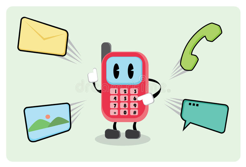Mr. Smartphone vector illustration