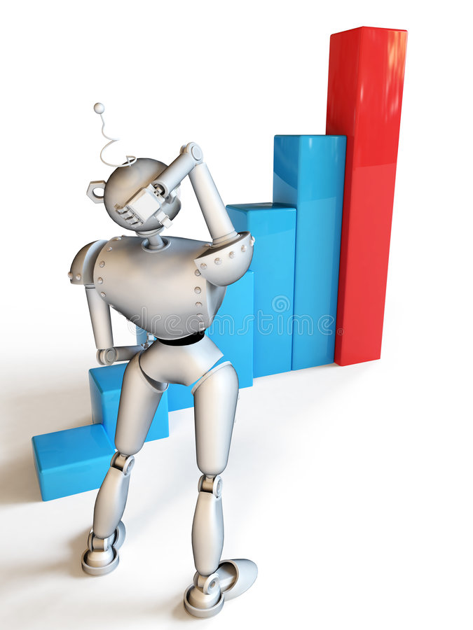 Mr.Smileg - il robot illustrazione di stock