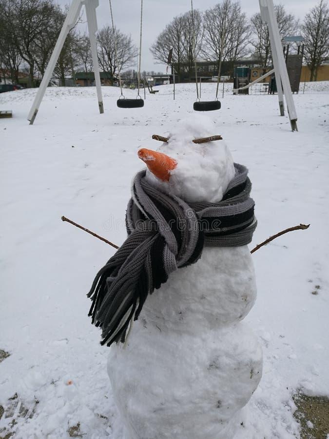 Mr snowman stock photography
