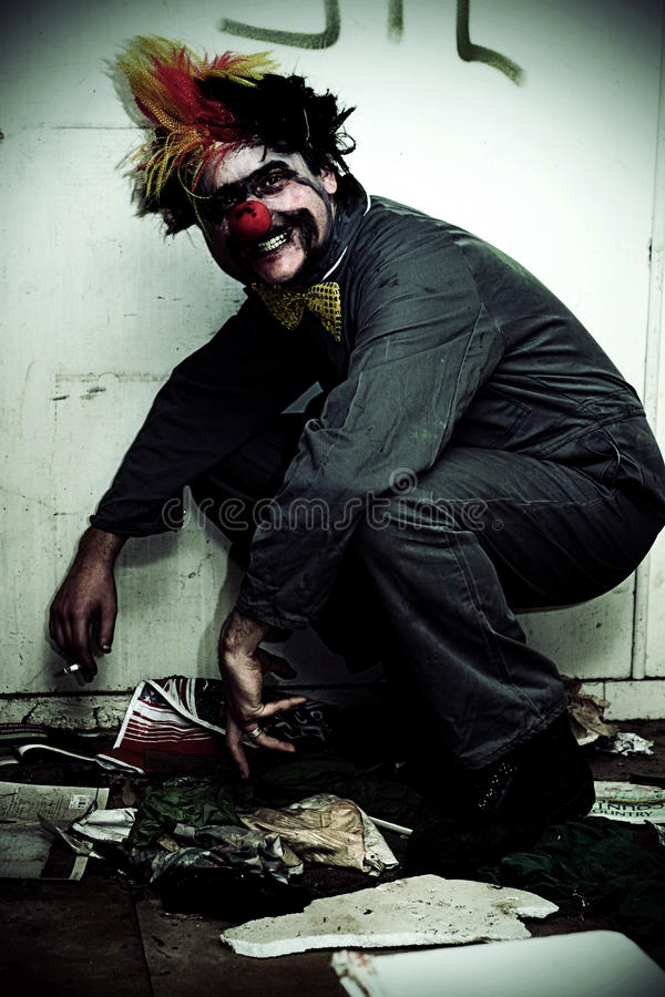 Mr Squatter The Unemployed Clown Stock Image