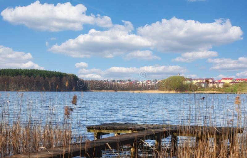 Mragowo oder Sensburg, Masuria, Polen lizenzfreie stockbilder