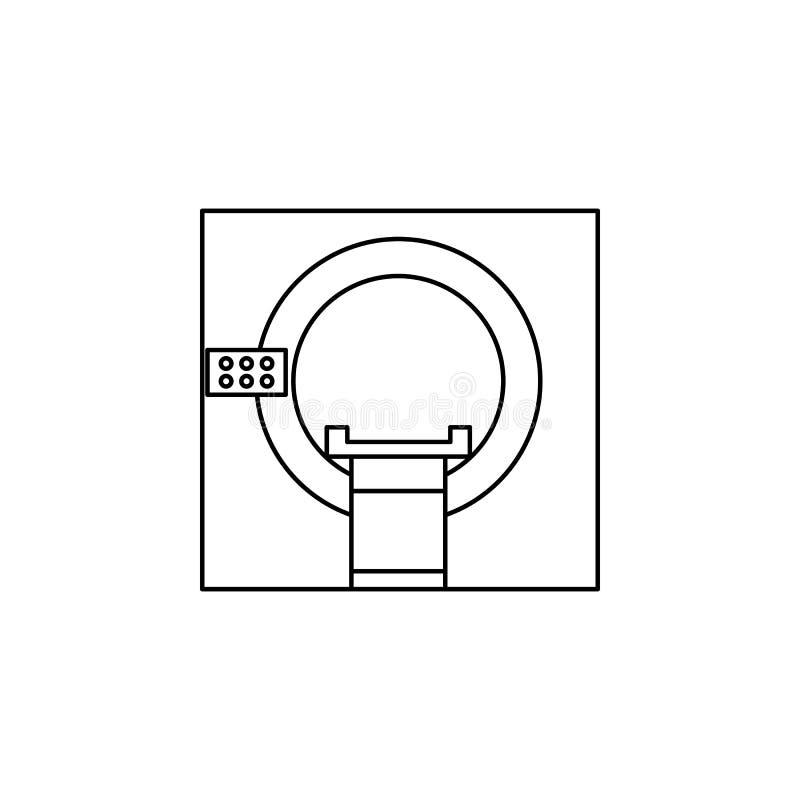 MRI утончают линию значок Элемент медицины оборудует значок Наградной качественный графический дизайн Знаки, собрание символов, п иллюстрация вектора