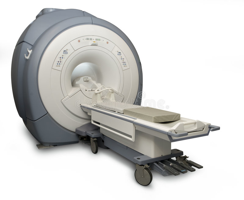 MRI isolated. Magnetic Resonance Imaging machine isolated on white with a clipping path