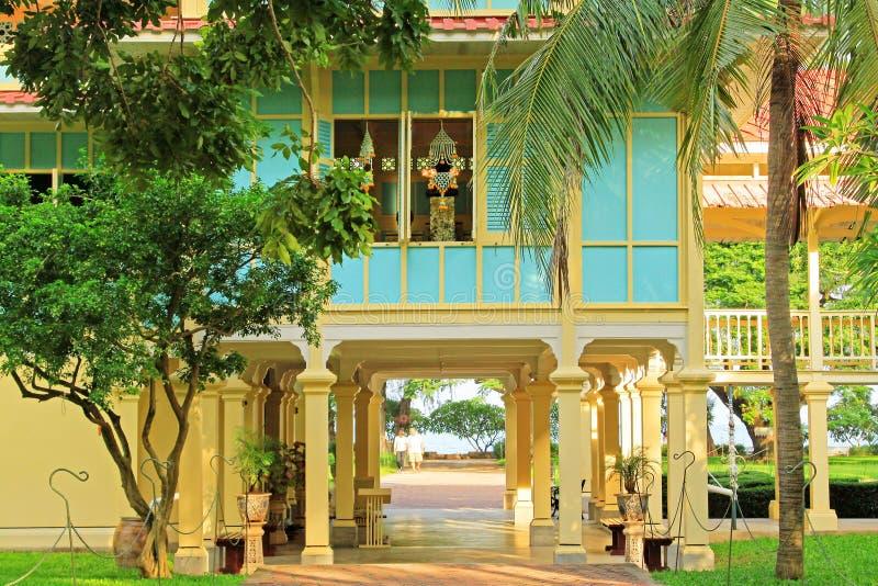 Mrigadayavan slott, Phetchaburi, Thailand, royaltyfria foton