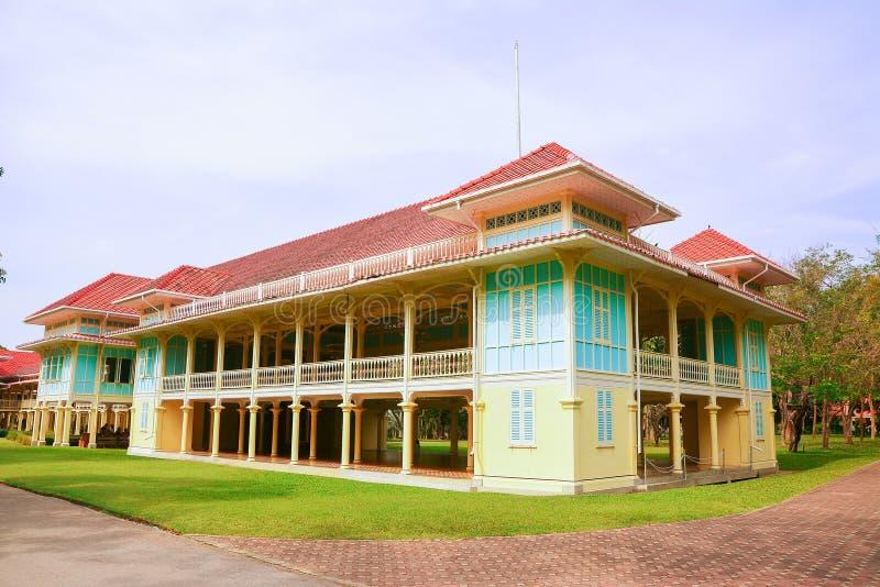 Mrigadayavanpaleis in ChaAm Thailand royalty-vrije stock foto