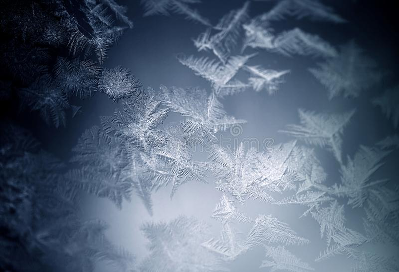 mroźna deseniowa nadokienna zima fotografia stock