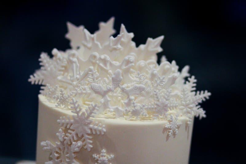 Mroźny Ślubnego torta wierzchołek obrazy royalty free