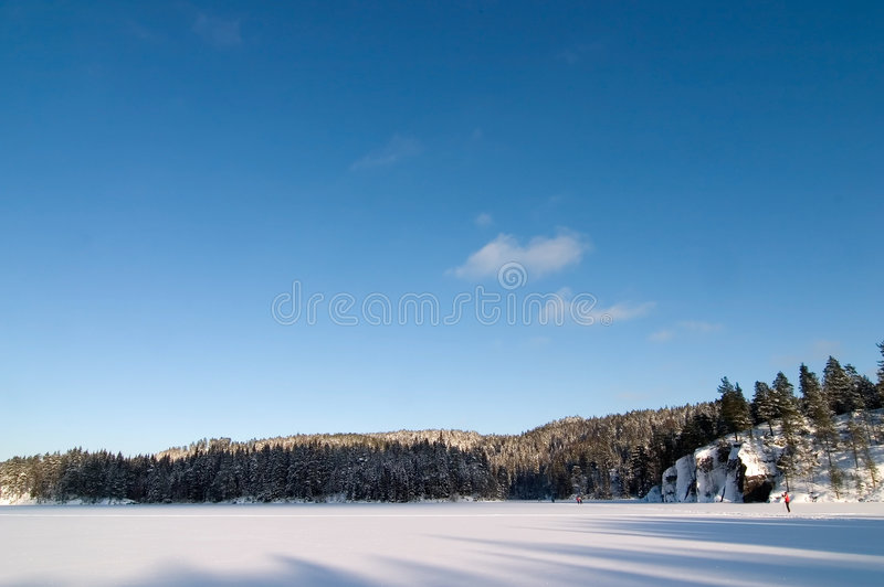 mrożone jeziora krajobrazu obraz royalty free