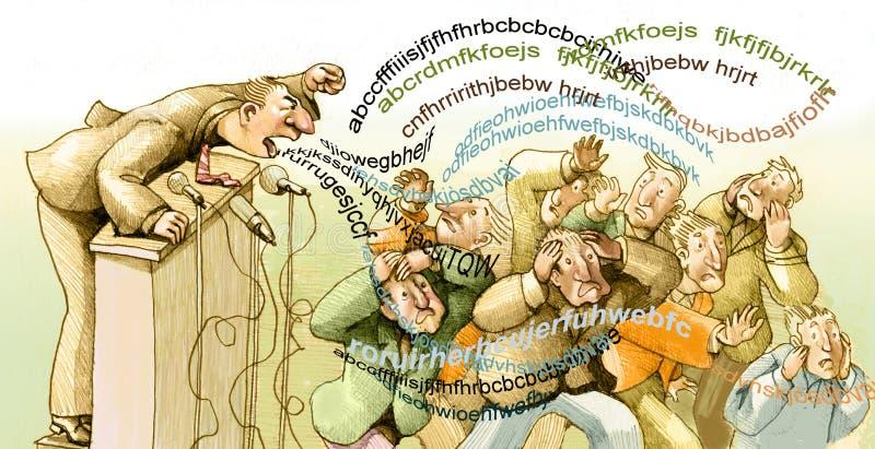 Mrowie słowa ilustracja wektor