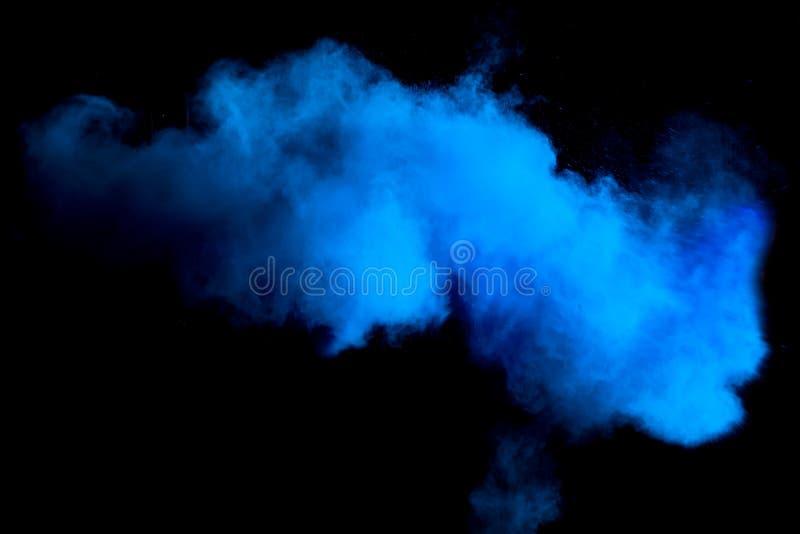 Mrozu ruch błękitny pyłu wybuch obrazy stock