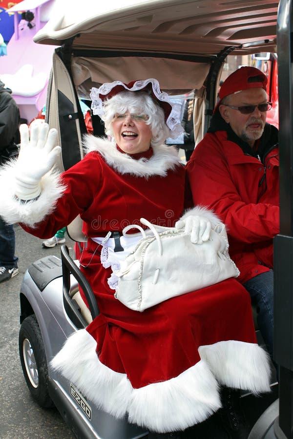 Mrs Claus arrives at Toronto Santa Claus Parade
