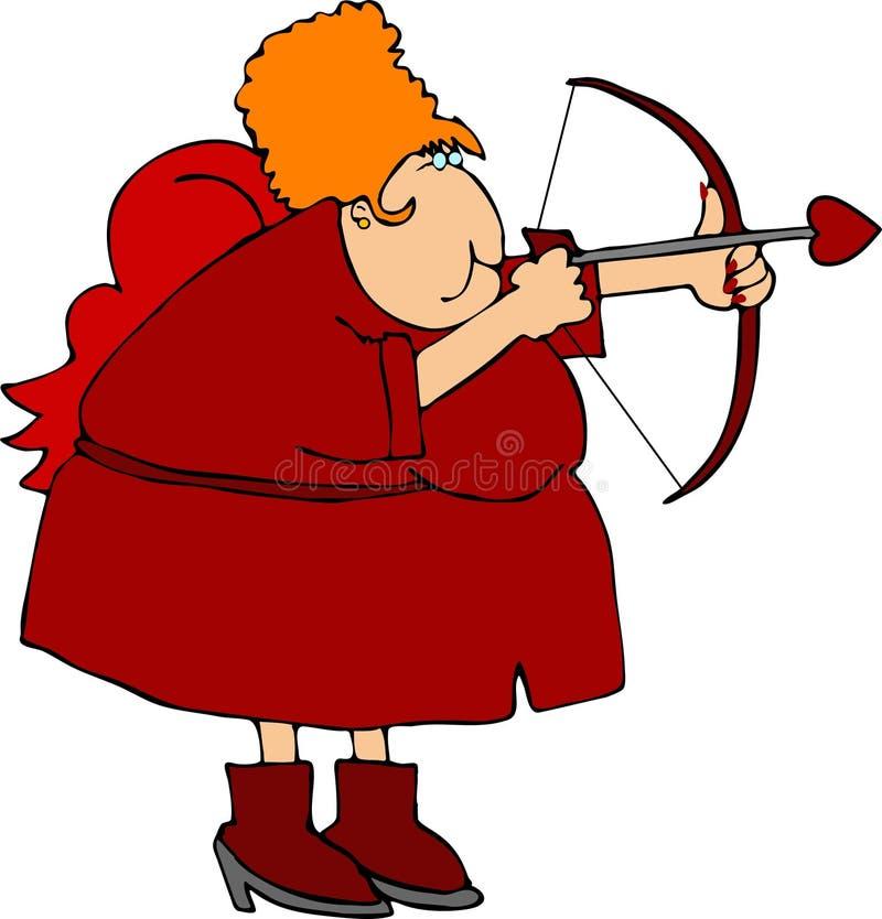 Mrs. Cupid vector illustration