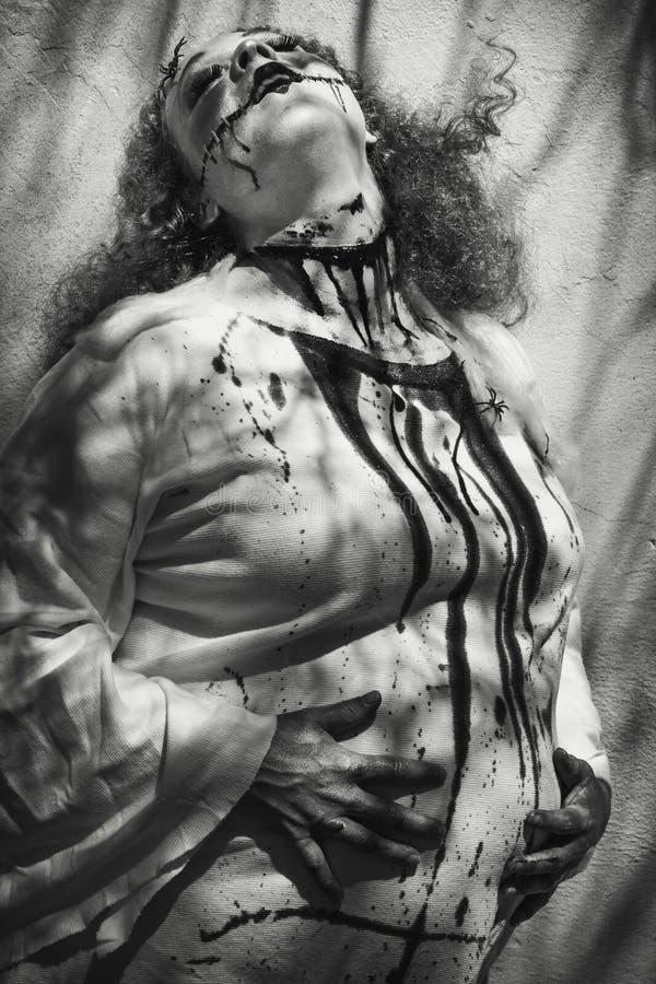 mrs Frankenstein Jest Ciężarny zdjęcia royalty free