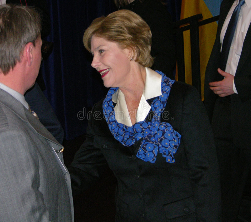 Download Mrs. Laura Bush editorial photography. Image of chief - 4757732