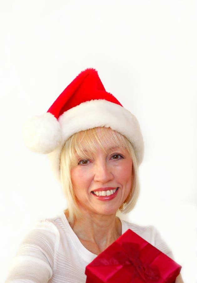 Mrs Santa stock image