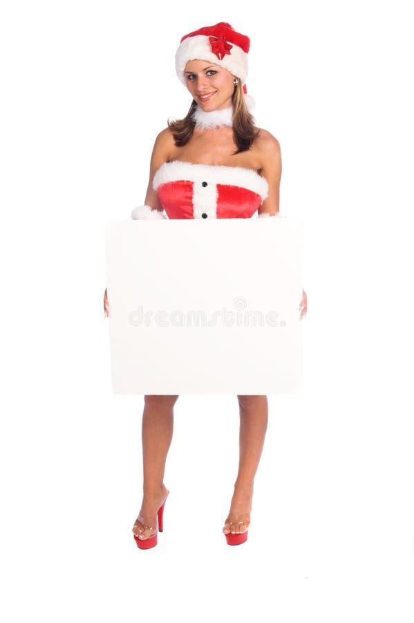Free Mrs Santa Blank Sign Royalty Free Stock Photos - 1340878
