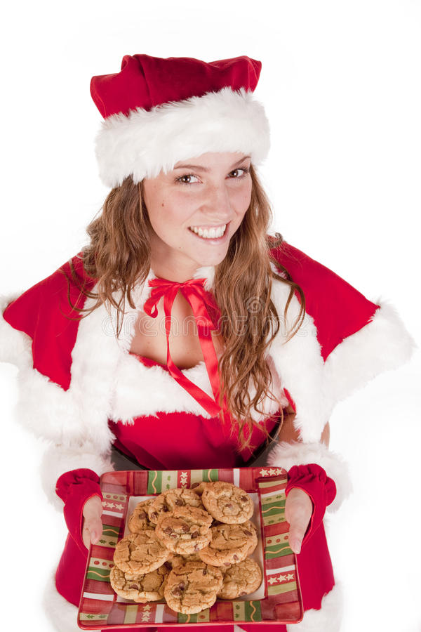 Download Mrs Santa Cookies And Smile Stock Photo - Image: 16930316